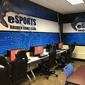 24/7 esports gaming center in the Charles J. Wick Campus Center