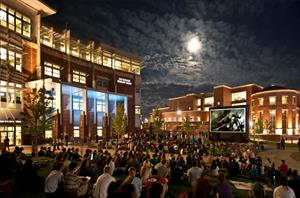 The University of Nevada-Reno celebrate community regularly with free outdoor movies at Joe Crowley Student Union's Gateway Plaza.