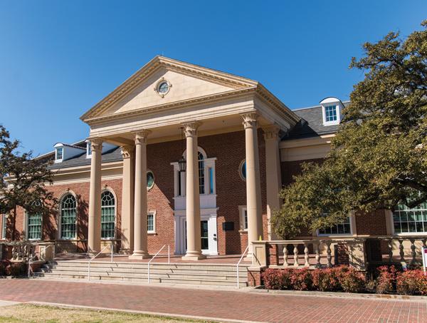 Spotlight on the Student Union  at Hubbard Hall, Texas Woman's University