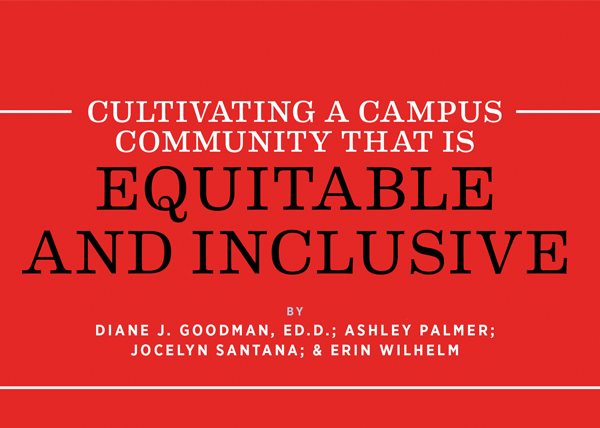 Cultivating a Campus  Community that is Equitable  and Inclusive