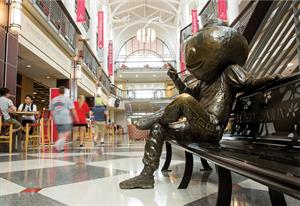 Brutus Buckeye statue at The Ohio State University