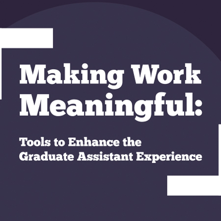 Making Work Meaningful: Tools to Enhance the Graduate Assistant Experience