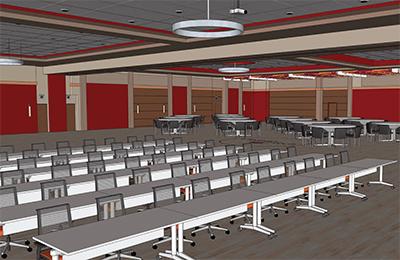 Modernizing a 1960s-Era Ballroom
